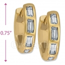 097008  Gold Layered  CZ Huggies Earring