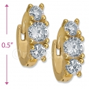 097014  Gold Layered  CZ Huggies Earring