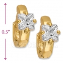 097016  Gold Layered  CZ Huggies Earring