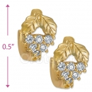097017  Gold Layered  CZ Huggies Earring