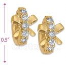 097018  Gold Layered  CZ Huggies Earring