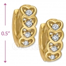 097020  Gold Layered  CZ Huggies Earring