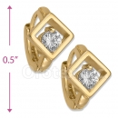 097022  Gold Layered  CZ Huggies Earring