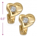 097023  Gold Layered  CZ Huggies Earring