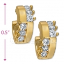 097024   Gold Layered  CZ Huggies Earring