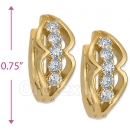 097026  Gold Layered  CZ Huggies Earring