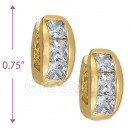 097029  Gold Layered  CZ Huggies Earring