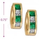097030G  Gold Layered  CZ Huggies Earring
