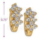 097031  Gold Layered  CZ Huggies Earring