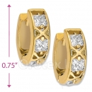 097032  Gold Layered  CZ Huggies Earring