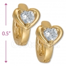 097033  Gold Layered  CZ Huggies Earring