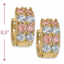 097035P  Gold Layered  CZ Huggies Earring