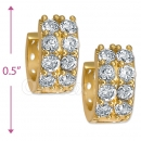 097035W   Gold Layered  CZ Huggies Earring