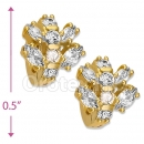 097036  Gold Layered  CZ Huggies Earring