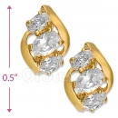 097037  Gold Layered  CZ Huggies Earring