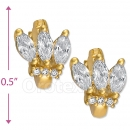 097038  Gold Layered  CZ Huggies Earring