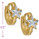 097039  Gold Layered  CZ Huggies Earring