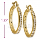 097041  Gold Layered CZ Hoop Earrings
