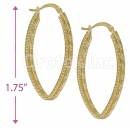 101017 Gold Layered Hoop Earrings