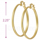 102001 Gold Layered Hoop Earrings