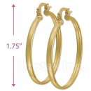 102002 Gold Layered Hoop Earrings