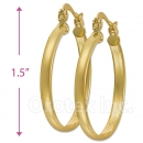 102003 Gold Layered Hoop Earrings