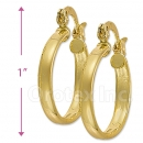 102004 Gold Layered Hoop Earrings