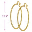 102008 Gold Layered Hoop Earrings