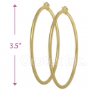 102010 Gold Layered Hoop Earrings