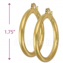 102013 Gold Layered Hoop Earrings
