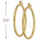 102014 Gold Layered Hoop Earrings