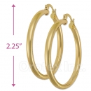 102019 Gold Layered Hoop Earrings
