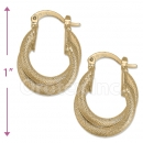 102025 Gold Layered Hoop Earrings