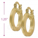 102030 Gold Layered Hoop Earrings