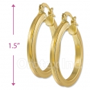 102031 Gold Layered Hoop Earrings