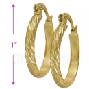 103016 Gold Layered Hoop Earrings