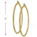 103105 Gold Layered Hoop Earrings