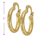 103201 Gold Layered Hoop Earrings