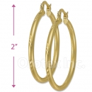 103203 Gold Layered Hoop Earrings
