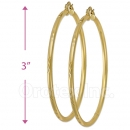 103205 Gold Layered Hoop Earrings