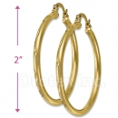 103303 Gold Layered Hoop Earrings