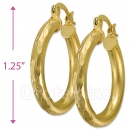 104002 Gold Layered Hoop Earrings
