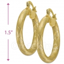 104006 Gold Layered Hoop Earrings