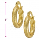 104009 Gold Layered Hoop Earrings