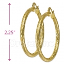 104012 Gold Layered Hoop Earrings