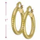 104014 Gold Layered Hoop Earrings