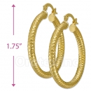 104015 Gold Layered Hoop Earrings