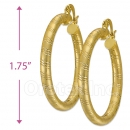 104019 Gold Layered Hoop Earrings