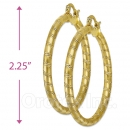 104020 Gold Layered Hoop Earrings