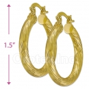 104022 Gold Layered Hoop Earrings